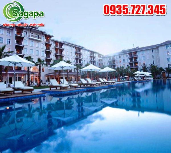 Mẫu thiết kế bể bơi khách sạn
