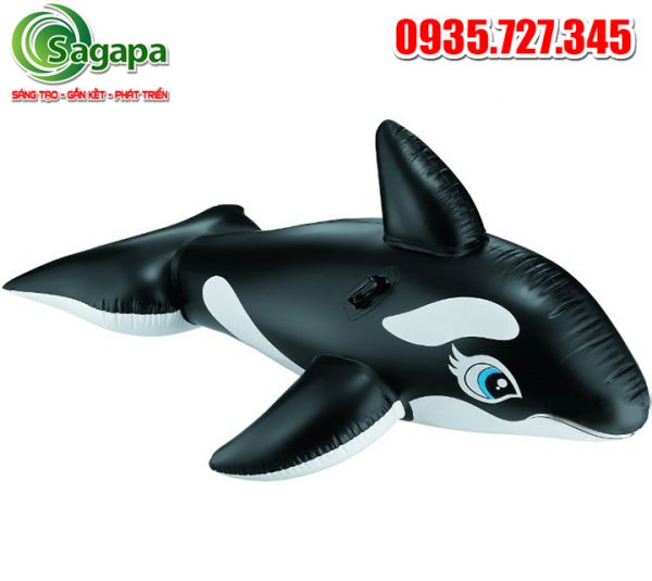 phao cá voi đen