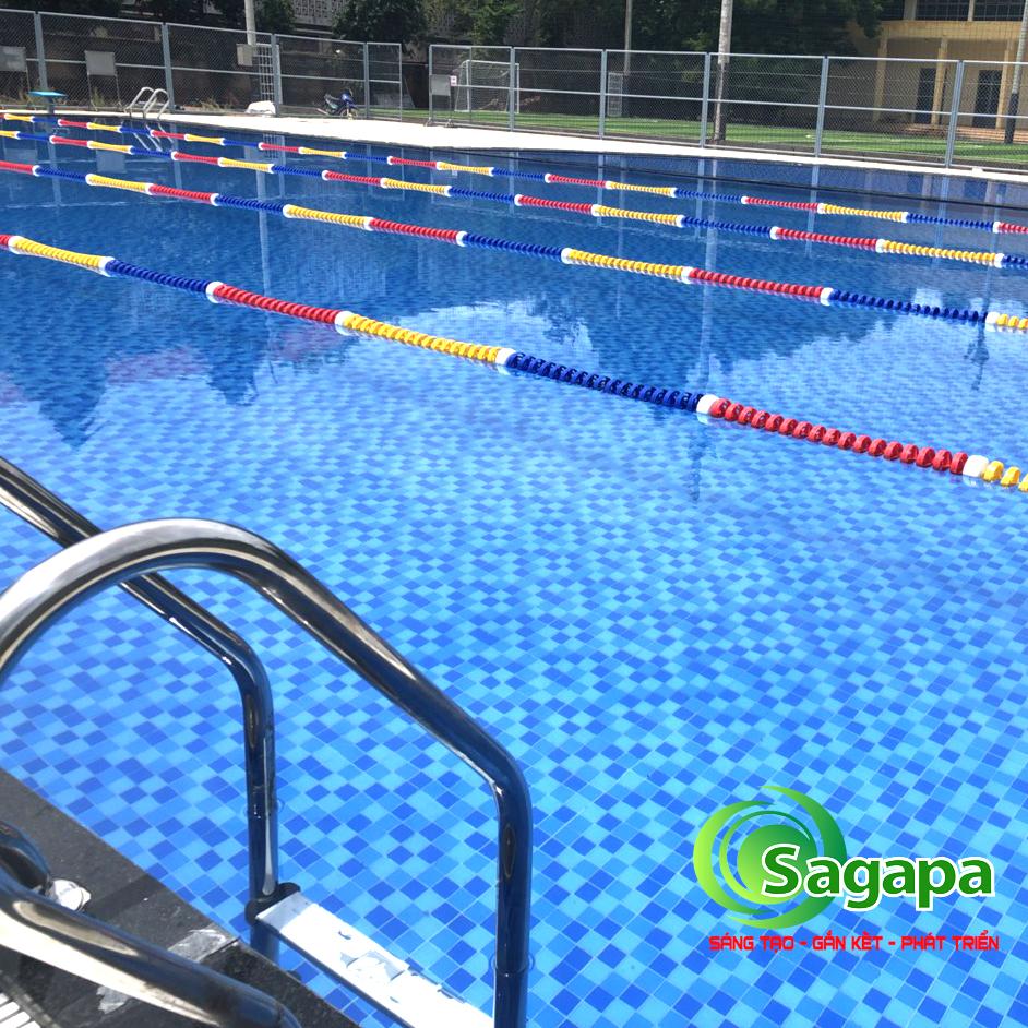 Thi công hồ bơi bê tông trường học sau khi bàn giao